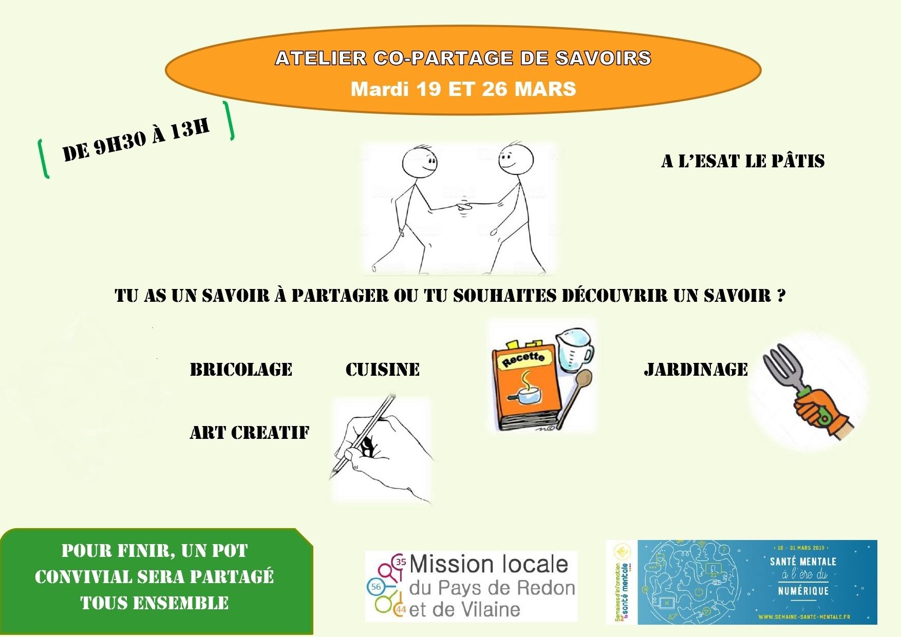 atelier co-partage de savoirs @ Mission locale jeunes