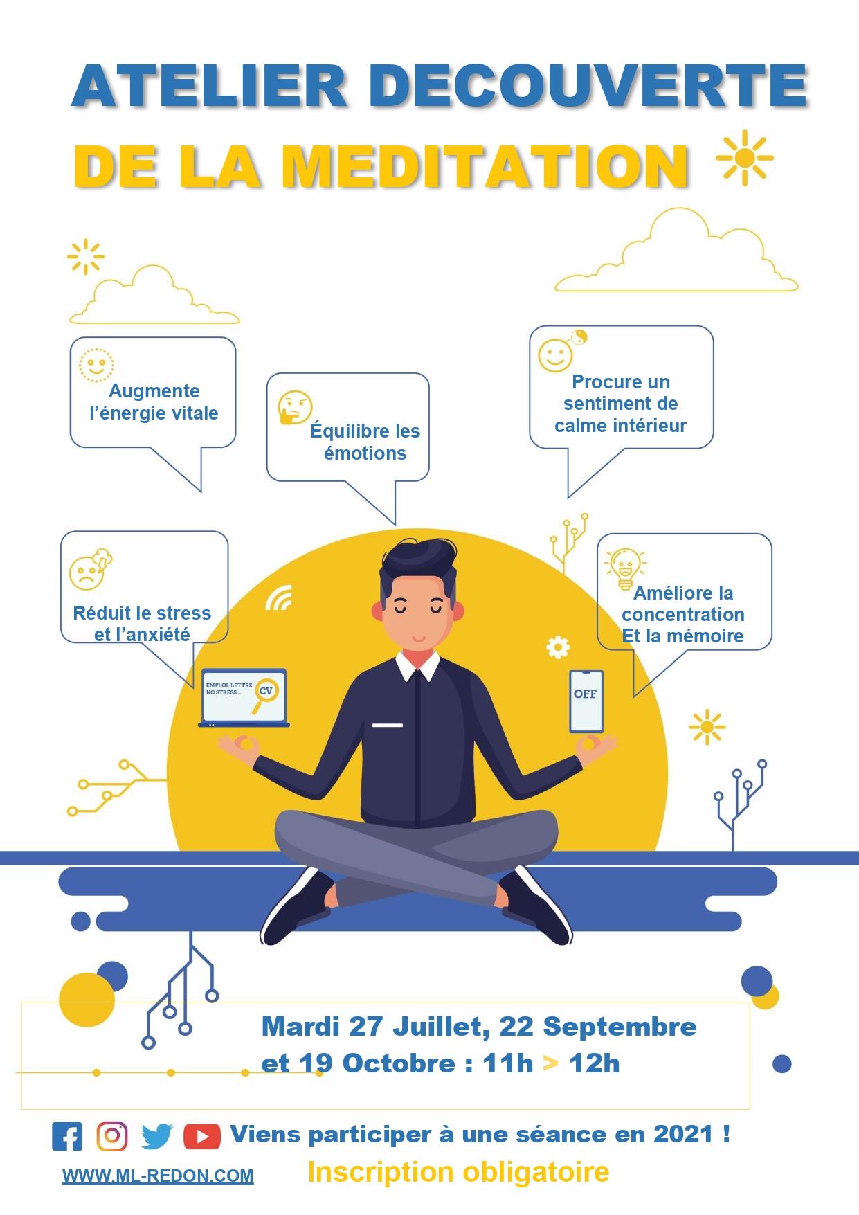 Atelier découverte de la méditation @ Mission locale Pays de redon et de Vilaine