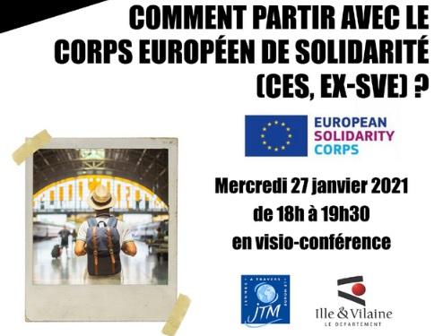 Information Corps Européen de Solidarité (ex SVE) - visio conférence